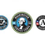 Washington Service Corps and AmeriCorps logos